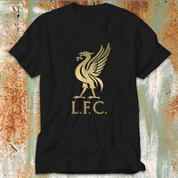 Liverpool FC Gold T-Shirt Mens Design T Shirt for Men (Various Color Available)