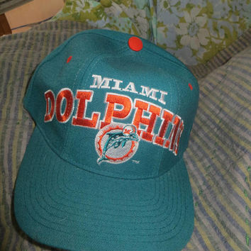 VTG Miami Dolphins NFL Baseball Wool  Cap Golf Hat Snapback Football  Starters Pro Line