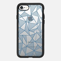 Abstract Lines Blue Transparent iPhone 7 Case by Project M | Casetify
