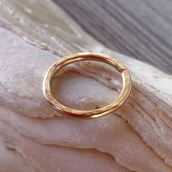14K Solid Gold Septum Ring,Nose Ring piercing ring,cartilage,helix,tragus,ear | eBay