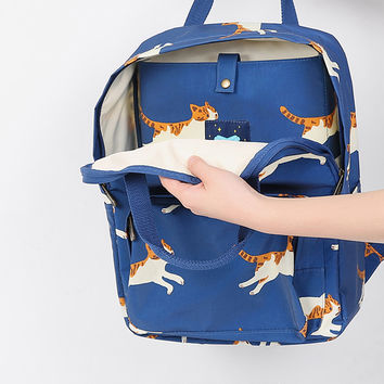 Flying Kitties PVC Backpack by TYAKASHA
