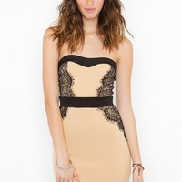Laced Sweetheart Dress in  Clothes at Nasty Gal