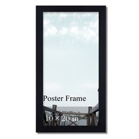 """Decorative Black Wood 1.25"""" Wide Wall Hanging Poster Frame"""