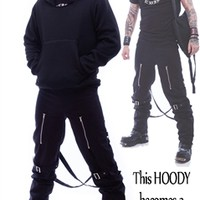 Necessary Evil Gothic Hoodipac Alternative Hoody Bag Combo