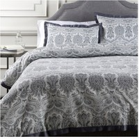 Griffin Charcoal Gray Damask Duvet Collection