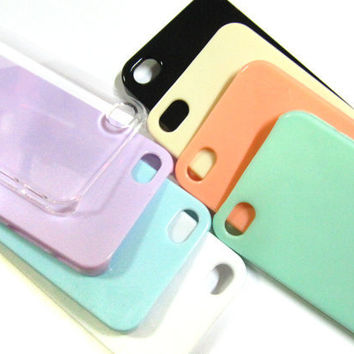 Blank Iphone 4 4s Case DIY Kit For Decoden or DIY 1pcs