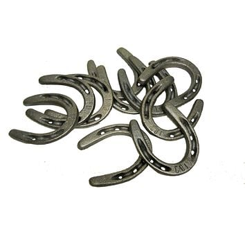 "10 pc Cast Iron Pony Horseshoes 3 1/2"" x 3"""