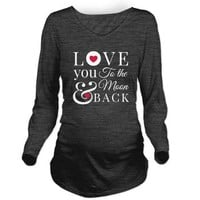 To the Moon Back Long Sleeve Maternity T-Shirt> To the Moon & Back> ...