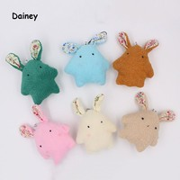 1PCS 12cm Baby Soft Abstract Plush Toy Brinquedos Plush Rabbit Bunny Mate Stuffed & Plush Animals Kids Toys Color Random MRT17