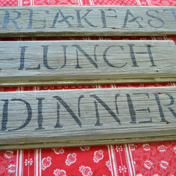 Antique Barn Wood Signs by BitsofthePast on Etsy