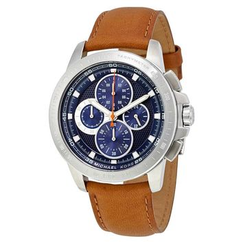 Michael Kors Ryker Chronograph Blue Dial Mens Watch MK8518