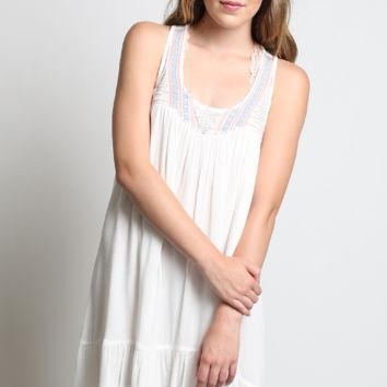 En Creme Babydoll Dress