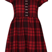 **Red Tartan Smock Dress by Oh My Love - Dresses  - Clothing