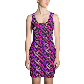 Pattern Crown Logo (Pink, Purple, Light Pink) Dress