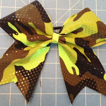 Sparkle Camouflage / Camo Cheer Bow