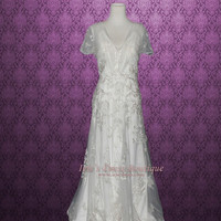Vintage Retro Bohemian Style Lace Wedding Dress