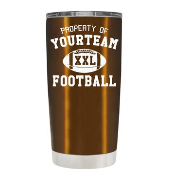 TREK Custom Property of Team Football on Copper 20 oz Tumbler Cup