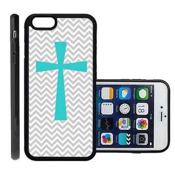 RCGrafix Brand Cross Micro Chevron Apple Iphone 6 Plus Protective Cell Phone Case Cover - Fits Apple Iphone 6 Plus