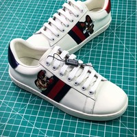 Gucci Ace Embroidered Low Top Sneakers Style 4 - Best Online Sale