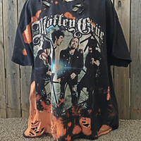 Mötley Crüe  distressed and bleached T  shirt size XXLarge one of a kind t shirt