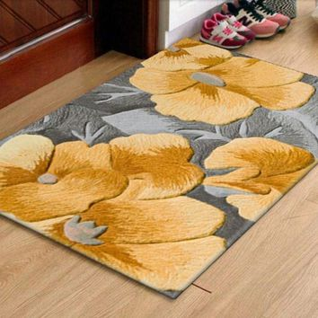 Autumn Fall welcome door mat doormat Carpets with sunflowers Carved  Wool Brand carpets for Hallway Bedroom Living room Aisle Bedside 100% wool Carpets AT_76_7