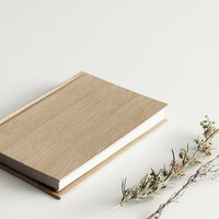 A6 Notebook Wood look - beech