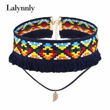 2017 Summer Bohemian Choker Necklaces for Women Steampunk Collar Necklace & Pendant Jewelry Gothic Tattoo Collier Femme N54891