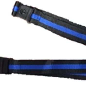 Thin Blue Line Lanyard with Detachable Key Chain
