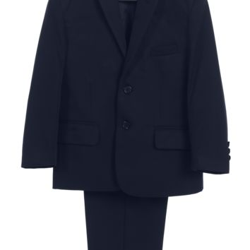Boys Navy Two-Piece Suit w. 2-Button Jacket & Trousers 7-14 & 12H-20H