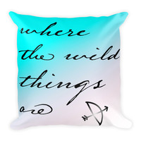 Where the Wild Things Are Square Pillow