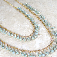 Chic Sage Layered Necklace