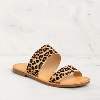 Nadia Leopard Slide On Sandals