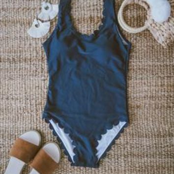 'Kitty' Scallop Edge Swimsuit
