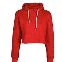 Cameron Marl Brush Cropped Hoody