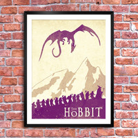 The Hobbit - Lord of the Rings poster. Watercolor poster. Handmade poster.