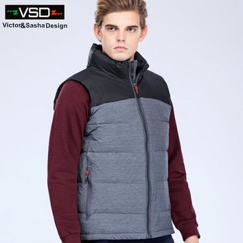 Winter New Arrival Men's Jacket Sleeveless Vest Fashion Casual Coats Waistcoat Male 90% Duck Down Vest Thickening