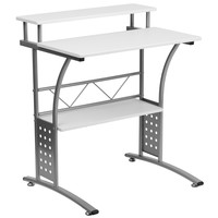 Flash Furniture Clifton White Computer Desk [NAN-CLIFTON-WH-GG]