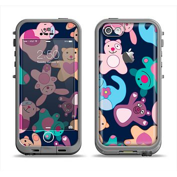 The Stuffed Vector Color-Bears Apple iPhone 5c LifeProof Fre Case Skin Set