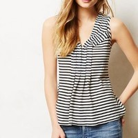 Pippi Tank by Anthropologie Black & White Xxs P Tops