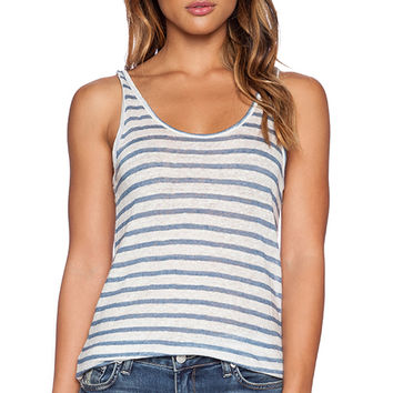 CP SHADES Kia Stripe Linen Tank in Blue