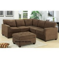 2pc Sectional Sofa in Truffle Waffle Suede