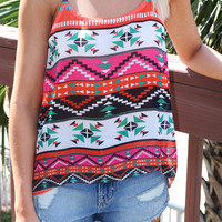 Mexico Valley Aztec Semi-Sheer Tank