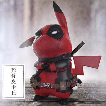 15CM Pikachu Cosplay Deadpool Action Figure
