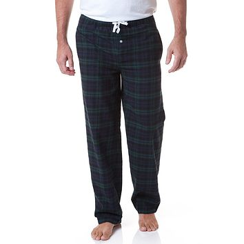 Flannel Sleeper Pant in Blackwatch Plaid by Castaway Clothing - FINAL SALE