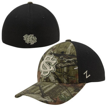 Zephyr South Carolina Gamecocks Marksmen Flex Hat - Camo/Black