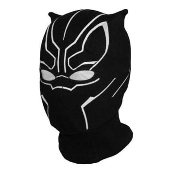 ESB6F Superhero Black Panther Balaclava Full Face Mask Halloween Costume X-men Hats Cap Party Captain America Civil War