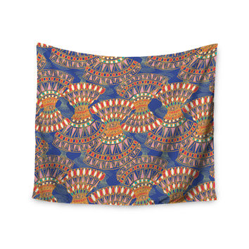 "Miranda Mol ""Energy"" Orange Blue Abstract Wall Tapestry"