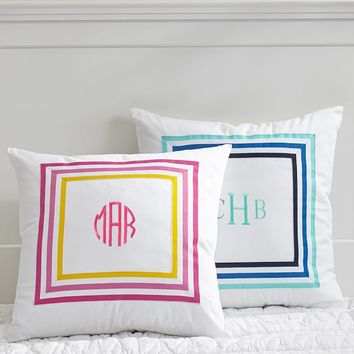 Ribbon Stripe Pillow Cover