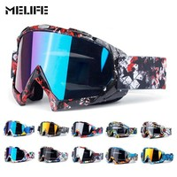 MELIFE Ski Sport glasses Motorcycle Eyewear Dirt Bike Racing Moto Bike Sunglasses Motocross Goggles Off Road Helmets Men Women