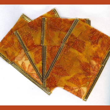 Organza Ribbon Pouches Pouch 4 Metallic Wire Autumn Fall Jewelry Gifts Beads Bright Glittery Bags Gift Card Holders